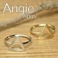 NEW【Angie】2色展開。サンカクデザイン リング!シンプル&フェミニン!**