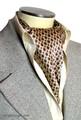 エレガント袋縫いプリント柄メンズ用100%シルクスカーフ 10102
