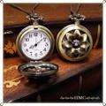 ○再入荷お花の懐中時計 大き目サイズ レザーコードネックレス○