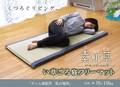 【日本製】固わた40mm入り い草ごろ寝フリーマット 『デニム素肌草 私の場所』