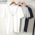 【SALE セール】 メンズ ネイティブ ネックレスプリント スラブ Tシャツ / 半袖 カットソー トップス 夏