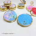 【Notle】★NEW COLLECTION★Compact mirror-サークル・sea-