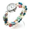 【春夏新作】ターコイズとビーズのブレスレットウォッチ トルコ調 レディース腕時計 アクセサリー