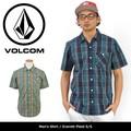 【VOLCOM】 半袖シャツ /Everett Plaid/ボルコム チェック 半袖 シャツ ヴォルコム