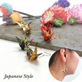 "【aller au lit】""Japanese style""和物ピアス-折り鶴・柄-"
