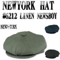 NEWYORK HAT#6212 LINEN NEWSBOY  14717