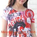 ★再入荷!☆メッセージプリントオパール加工Tシャツ☆Sweet&Conscious