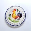 ポルトガル製 アルコバッサ 飾り皿 幸せの チキン柄 プレート ハンドペイント 絵皿 12cm 壁掛け