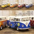 ダイキャストミニカー(M)[1962 VW Classical Bus w/ printing (Ivory Top)1/32]【ロット12台】