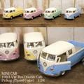 ダイキャストミニカー(M)[1963 VW Bus Double Cab Pickup (Pastel Color)1/34]【ロット12台】