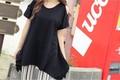 大きいサイズ☆肩あき半袖カットソー☆LL~4L 1000円以下