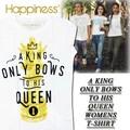 ★大特価★Happiness ハピネス レディース Tシャツ<A KING ONLY BOWS TO HIS QUEEN><ラスト3点>