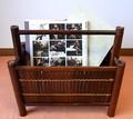 マガジンラック/本立て 竹の温かみと独特な雰囲気を醸し出す小家具・和雑貨