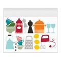 【北欧デザインの便利なジッパーバッグ】<B6>キッチン柄