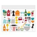 【北欧デザインの便利なジッパーバッグ】<B5>キッチン柄