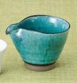 湯冷ましに!小鉢に!マルチに使えます。■【三酒の神器】丸義トルコ青片口酒器