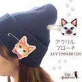 ♪キャットシンフォニカ♪日本製のアクリルブローチ☆ ねこと音楽の雑貨