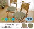 い草クッション シート 花柄 『フォンターナ』約40×40cm 2枚組