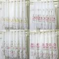 カフェカーテン<45丈 ローズ 薔薇 フラワー 花 レース>