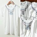 【SALE セール】 メンズ ネイティブ ネックレスプリント Tシャツ / 半袖 イーグル フェザー コンチョ 夏