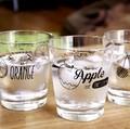 【日本製】どこか懐かしいソーダガラスにアメリカン柄がかわいい フルーツグラス