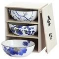 ■美濃焼ギフト■藍華 三つ組鉢