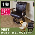 PEET キャスター付ダイニングチェアー(1脚) DBR/NA