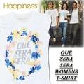 ★大特価★Happiness ハピネス レディース ラメプリント Tシャツ<QUE SERA SERA><ラスト4点>