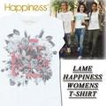 ★大特価★Happiness ハピネス レディース ラメプリント Tシャツ<HAPPINESS><ラスト5点>