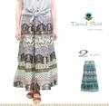 インド綿 ティアード スカート