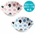 ■美濃焼単品■水玉にゃんこ耳付スープカップ2種(ピンク・ブルー)