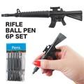 【アメリカ雑貨 アメ雑】ライフルボールペン 6Pセット 銃 武器 おもしろ パロディ