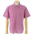 日本製  新感覚の手ぬぐい素材で涼しい ボタンダウン半袖シャツ ハンドメイド