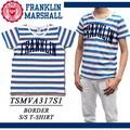 【激安!】◆お買い得春夏商材◆FRANKLIN&MARSHALL ロゴ ボーダー Tシャツ<ラスト1点>