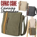 【CUBIC CORE】【超定番】縦型キャンバスショルダーバッグ<A4対応>
