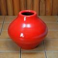 ポルトガル製 テラコッタ 素焼き 陶器 フラワーポット 赤 花瓶 アンティーク風 レッド 高さ23cm