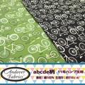 【生地】【反売り】Andover Fabrics abcde 自転車柄 11号ハンプ生地