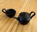 ■常滑焼【made in japan/茶器】幸隆ハート型ポット・マグ