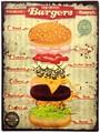 アンティークエンボスプレート[ハンバーガー]<アメリカン雑貨>