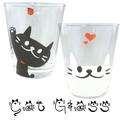 【食器 キッチン 雑貨】キャット グラス ネコ 黒猫 白猫 コップ かわいい ねこ
