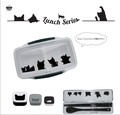 【人気のネコ♪】ランチにかわいい猫ちゃんいっぱい ドームランチボックス&箸コンビセット