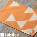 ランチョンマット 2枚セット 北欧 ジュビリー Jubilee  オレンジ レッド ダイヤモンド ティータオル