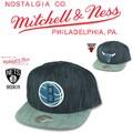 Mitchell&Ness Blue Linen Snapback  14854