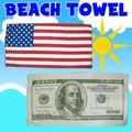 【アメリカ雑貨 アメ雑】ビーチタオル 国旗 ドル 紙幣 おもしろ ジョーク 海 プール
