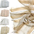 トラッドラメストライプストール【春夏】ストール★UV・冷え対策【在庫一掃セール商品】