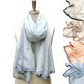 エッジレースストール【ストール・スカーフ】【寒さ・UV対策】