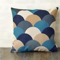 クッションカバー 北欧デザイン ブルー ウロコ ジュビリー Jubilee London 45×45cm