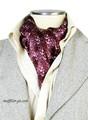 エレガント袋縫いイカリ柄メンズ用100%シルクスカーフ 10105