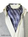 エレガント袋縫いイカリ柄メンズ用100%シルクスカーフ 10106
