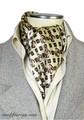 エレガント袋縫いプリント柄メンズ用100%シルクスカーフ 10108